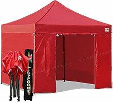 Pop-up-Zelt-Pavillon mit 6Wänden, 3x 3m, komplett wasserdicht und robust. Mit Rollentragetasche, von ABCCANOPY