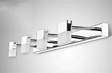 popa Bad-Beleuchtung Spiegel-vordere Lichter, LED-Spiegel-Scheinwerfer, Badezimmer-wasserdichte Wand-Lampe, moderne minimalistische Toiletten-Lichter, nordische Verfassungs-Lichter Spiegelfrontlicht ( Farbe : Warmweiß-12w68cm )