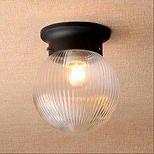 popahome Ball Schwarz-Weiß-Deckenleuchte Retro