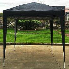 Popamazing 3x 3m schwarz wasserdicht faltbar Pop-Up-Pavillon party Zelt für Strand, Festivals und Camping