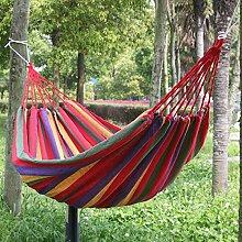 Popamazing Hängematte, 75 l, 80cm breit, rot, für den Außenbereich geeignet, für Garten, Hof, Reise, Campen; Farbig, Streifen, zum Aufhängen, als Be