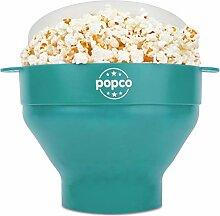 Popco Popcorn Popcorn Popcorn mit Griffen, Silikon