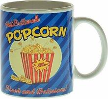 Popcorn Kaffeebecher - Diner Kaffeetasse Restaurant Tasse Retro Becher