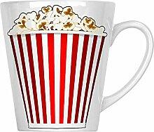Popcorn-Kino-Hintergrund 34 cl Latte Tasse p112L