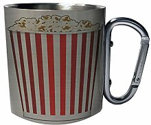 Popcorn-Kino-Hintergrund Edelstahl Karabiner