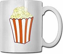 Popcorn lustige Clip Art Keramik Kaffeetasse -