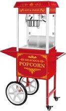 Popcornmaschine mit Wagen - Retro-Design - rot