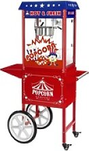 Popcornmaschine mit Wagen - USA-Design - rot