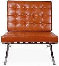 Popfurniture Barcelona Chair - Lounge Sessel,
