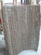 poppe-portal Bambusrollmatte Sichtschutz Weidenzaun Rollzaun Gartenzaun 180cmx180cm ~20 mm