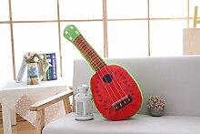POPRY Kreative Simulation Obst Gitarre Kissen,