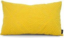 POPRY North European Sofa Kissen Kissen Gelb Wohnzimmer durch Tasche aufhängen Fenster Taille Kissen, 30X50 cm, Q