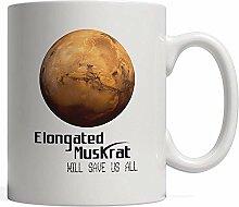 Porcelain Mug Funny Elongated Muskrat Will Save Us