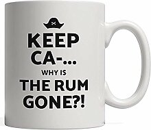 Porcelain Mug Keep Calm and. Why is All The Rum