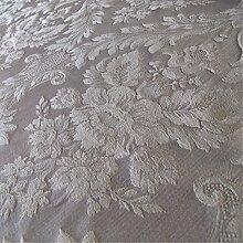 Porchester 'Divine Large Muster': Creme Damast Polstermöbel Sofa Kissen Flammschutzmittel Stoff Material aus loome Stoffe, Porchester 'Divine Large Pattern' : Cream, 10 x 14 cm sample