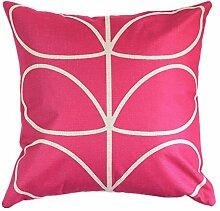 Pormow Blätter Baumwolle und Leinen Sofa/Hotel/Auto/Büro Dekorative Kissenbezüge Hochzeitsgeschenk,43x43cm