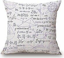 Pormow Mathematische Formeln Baumwolle und Leinen Sofa/Hotel/Auto/Büro Dekorative Kissenbezüge Hochzeitsgeschenk,45x45cm