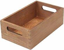 Portable Massivholz Storage Box,kein Cover Große