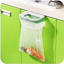 Portable Mini Plastik Tür Müll Trash Bag Kann Rack Holder 4Pcs