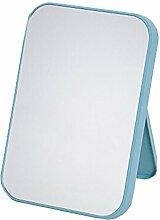"""Portable Mirror Einseitige Vanity Mirror Tabletop Make-up Spiegel 8.66 """"x5.9"""" (Hellblau)"""
