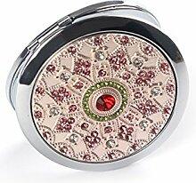 portable Schminkspiegel Faltung tragbare Spiegel round Metallspiegel Prinzessin dressing Spiegel-C