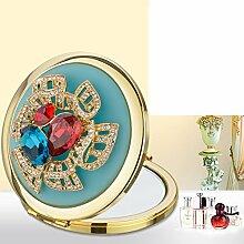 portable Schminkspiegel/HD Two-sided faltbaren Portable Spiegel/Prinzessin Geschenk Geschenke Spiegel-J