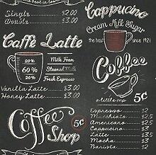 Portfolia - Rasch Vintage Retro Coffe Shop Cafe Schwarz Weiße Kreide Tapete 234602