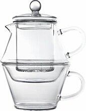 Portofino Tea-for-One einwandig Glas 400/250ml