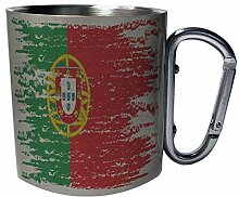 Portugal Flag Brand Edelstahl Karabiner