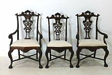 Portugiesische Vintage Palisander Stühle, 8er Set