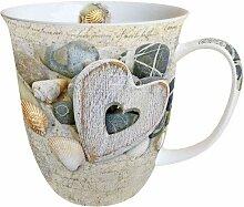 Porzellan Becher Bone China, Mug, Tasse, Fuer Tee