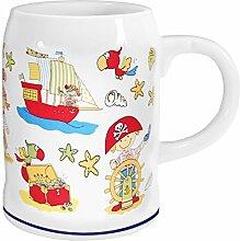 Porzellan- Becher, Seidel, Krug - Pirat- maritim - deutsches Produktdesign