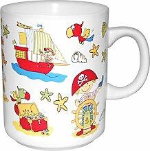 Porzellan- Becher, Tasse - Pirat- maritim - deutsches Produktdesign