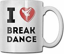 Porzellan Cup I Love Break Dance