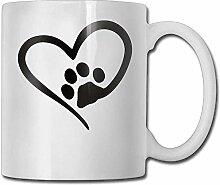 Porzellan Cup Love Heat Paw benutzerdefinierte