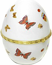 Porzellan Ei Osterei Ostern aufklappbar