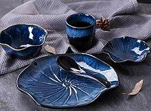 Porzellan Geschirr Set Für Eine Person Keramik