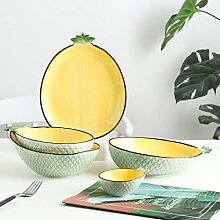 Porzellan Geschirrset, 20 Stück Ananas Form