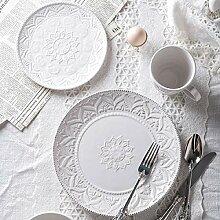 Porzellan Geschirrset, 24 Stück weiß Vintage