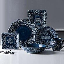 Porzellan Geschirrset, 26 Stück Barock Porzellan