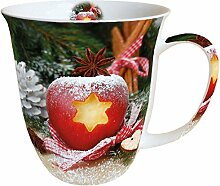 Porzellan Groß Becher Mug Tee/Kaffee Tasse ca.