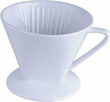 Porzellan Kaffeefilter Halter Größe 4 - weiß -