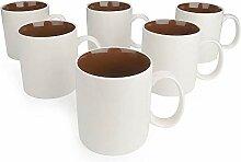 Porzellan Kaffeekanne 370ml 6-teiliges Tassenset