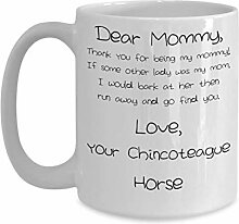 Porzellan-Kaffeetasse zum Muttertag, Motiv: Pferd,