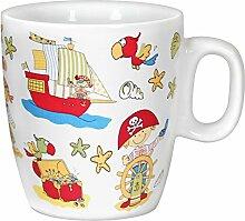 Porzellan- Kindertasse, Becher, Tasse - Pirat- maritim - deutsches Produktdesign