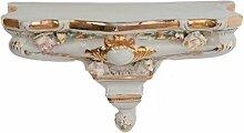Porzellan Konsole Regal Wandregal Wandboard Board Blumen antik Stil porcelain