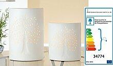 Porzellan Lampe Ellipse LEBENSBAUM klein oder