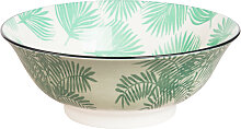 Porzellan-Salatschüssel mit Palmenmotiv