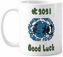 Porzellan-Tasse, antikes Design, dunkelblaues