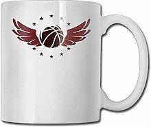 Porzellan Tasse Basketball mit Flügel